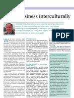 Roland Dunne 'Doing Business Interculturally' Business Money International Magazine March 2005