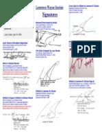 Larry Sinclair Signatures