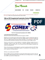 FAQs on CSC Computerized Examination System (COMEX) _ Civil Service Exam