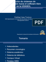 [CNSL Bolivia 2005]Migración de sistemas de información hacia el software libre en la UDABOL