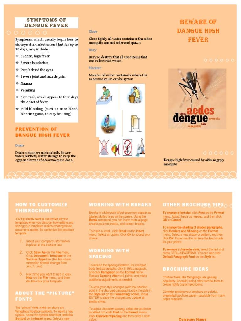 Symptoms of Dengue Fever   Typefaces (8 views)