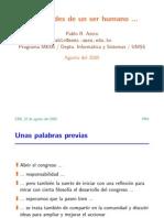 [CNSL Bolivia 2005]Viscisitudes de un ser humano