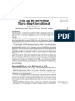 Making Relationship Marketing Operational
