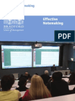 Effective Notemaking-BRADFORD UNIVERSITY