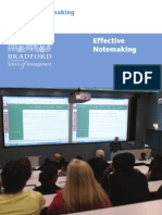 Effective Notemaking-BRADFORD UNIVERSITY