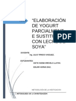 Proyecto Yogurth de Soya ,Jullito