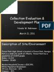 collection evaluation  development plan