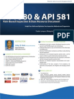 API 580 and 581Risk Based Inspection