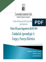 01° Clase - Carga Eléctrica y Ley de Coulomb