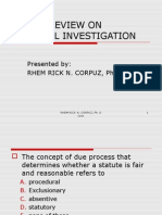 Question and Answer in Criminal Investigation