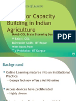 MOOC for Capacity Building in Indian Agriculture - Delhi-March2014