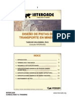Diseño de pistas en Mineria