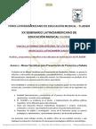 Anexo 2  XX SLDEM - Mesas Temáticas para Presentación de Ponencias y Debate - FLADEM 2014