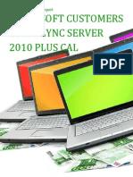 Microsoft Customers using Lync Server 2010 Plus CAL - Sales Intelligence™ Report