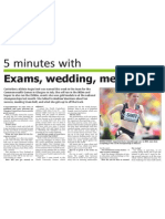 Five minutes with... Angie Smit (The Star, April 11, 2014)