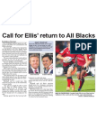 Call for Ellis' return to All Blacks (The Star, April 9, 2014)
