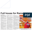 Full house for Rams' return (The Star, April 4, 2014)