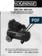 Blackridge BRC180 Air Compressor Supercheap Auto Manual