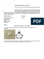 Practica Preparar Una Solucion de Nitrato