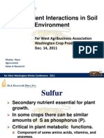 Plant Nutrient Interactions in Soil Environment