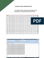 Uji Validitas dan Reliabilitas Dengan Excel