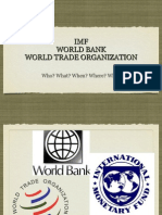 IMF, WB, & WTO (ppt)