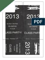 2013 Class Party Invite