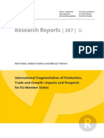 International Fragmentation of Production Trade and Growth Impacts and Prospects for Eu Member States