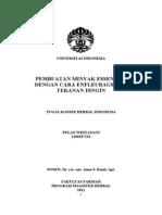 Tugaas Khi Pulan Widyanati 1106107214 Pembuatan Minyak Essensial Dengan Cara Enfleurage Dan Tekanan Dingin