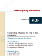 Factors Affecting Drug Metabolism