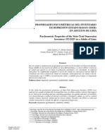 Propiedades Psicométricas del Inventario de Depresión Estado-Rasgo (IDER) en una muestra de Adultos de Lima Metropolitana
