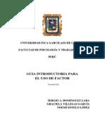 Guía introductoria para el uso de FACTOR