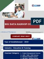 Big Data Hadoop @ First CADD< Jayanagar, Bangalore