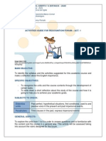 Guide Activities 1