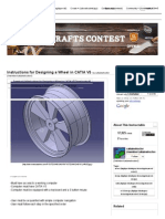 Instructions for Designing a Wheel in CATIA V5