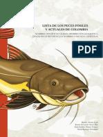 LISTA DE LOS PECES FÓSILES Y ACTUALES DE COLOMBIA, NOMBRES CIENTÍFICOS VÁLIDOS, DISTRIBUCIÓN GEOGRÁFICA, DIAGNOSIS DE REFERENCIA & NOMBRES COMUNES E INDÍGENAS