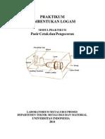 Modul Prak Pasir Cetak&Pengecoran 2014