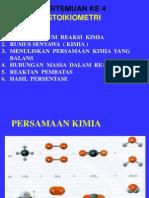 2. Pers.kimia & Rumus Kimia ( Stoikiometri )