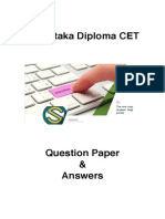 Karnataka Diploma CET 2013 Solved Question Paper - Electrical and Electronics Engineering
