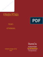 Vinaya Pitaka Volume i Suttavibhanga