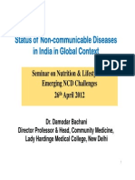 Status of Non Communicable Diseases