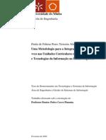 Uma Metodologia para a Integração das Tecnologias WEB nas Unidade Curriculares de Sistemas e Tecnologias da Informação no Ensino Superior