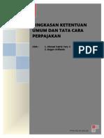 Ringkasan Ketentuan Umum Dan Tata Cara Perpajakan