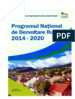 Programul National de Dezvoltare Rurala 2014 2020