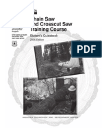 Chain Saw and Crosscut Saw Training Course Handbook