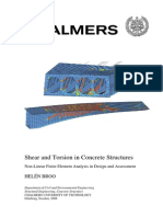 Shear and Torsion in Concrete Structures