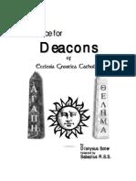 Advice for Deacons of E.G.C. - Dionysus Soter & Sabazius