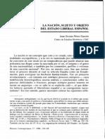 1998 La nación, sujeto y objeto del Estado liberal español