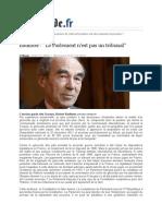 Badinter-Le Parlement n'Est Pas Un Tribunal
