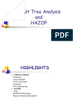 Fault Tree Analysis and Hazop